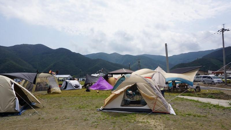 結の島CAMPのテントサイト