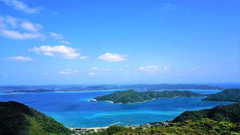 奄美自然観察の森から眺める龍郷湾